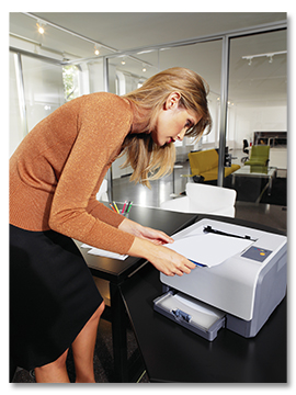 Business Woman Printing
